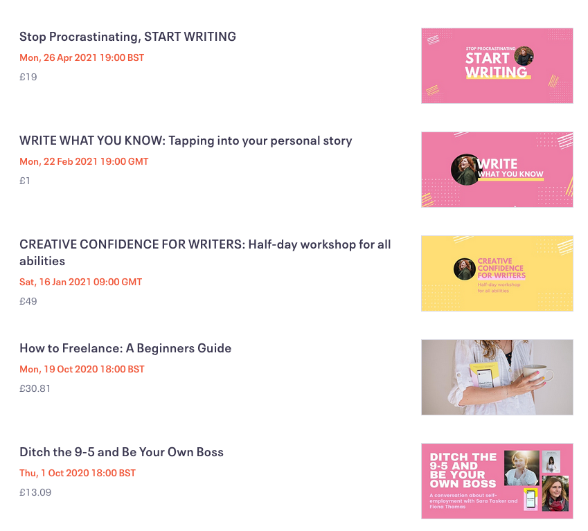 writing workshop online